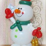 χιονάνθρωπος από μπαλόνια (2)