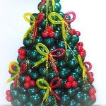 χριστουγεννιάτικο δέντρο από μπαλόνια (7)